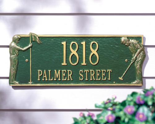 Golf Greens Address Plaque