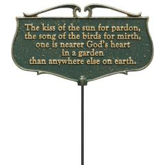 The Kiss of the Sun... - Garden Poem Sign