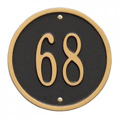 6 Inch Round Number Sign