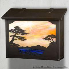 Monterey Cypress Large Horizontal Wall Mailbox