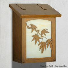 Japanese Maple Vertical Wall Mailbox