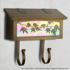 Japanese Maple Horizontal Wall Mailbox