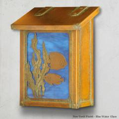 Fish Vertical Brass Wall Mailbox