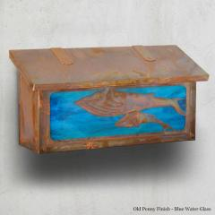 Whales Horizontal Wall Mailbox