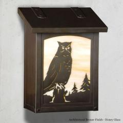 Horned Owl Vertical Wall Mailbox