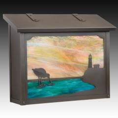 Shorebird Large Horizontal Wall Mailbox