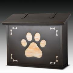 Dog Paw Print Large Horizontal Wall Mailbox