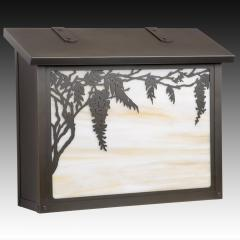 Wisteria Large Horizontal Wall Mailbox