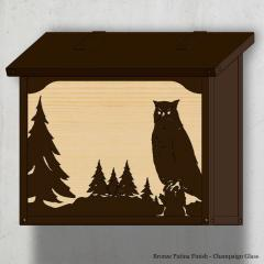 Great Horned Owl Large Horizontal Wall Mailbox