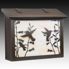 Hummingbird Large Horizontal Wall Mailbox