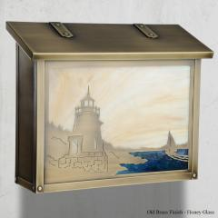 Castle Hill Lighthouse Large Horizontal Wall Mailbox