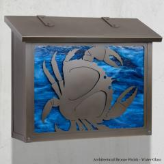 Crab Large Horizontal Wall Mailbox