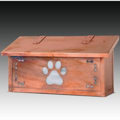 Dog Paw Print Horizontal Wall Mailbox