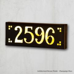 Medium Pasadena Illuminated Number Sign