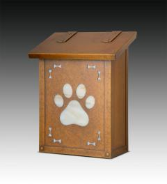 Dog Paw Print Vertical Wall Mailbox