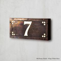Small Pasadena Illuminated Number Sign