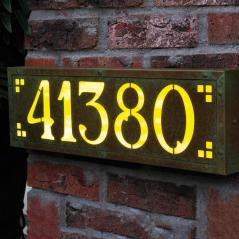 Pasadena Large illuminated Number Sign