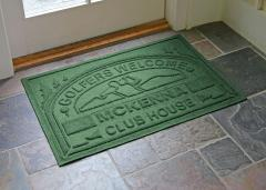 Country Club Personalized Golfing WaterGuard Door Mat - Green