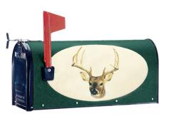 Oval Graphic Mailbox - Style: Deer