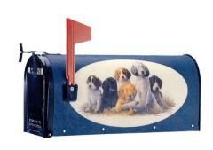 Oval Graphic Mailbox - Style: Puppies