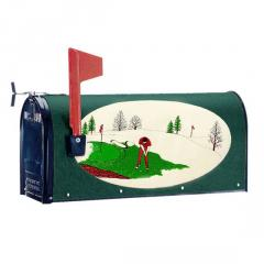 Oval Graphic Mailbox-Style: Golfer