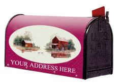 Oval Graphic Mailbox - Style: Quiet Mill
