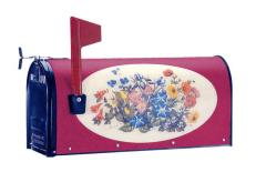 Oval Graphic Mailbox - Style: Wildflowers
