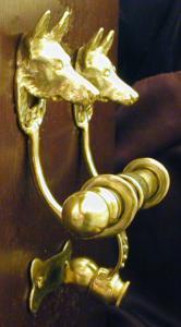 German Shepherd Bronze Door Knocker