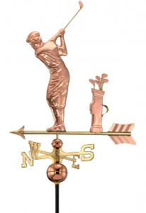 Golfing Copper Weathervane