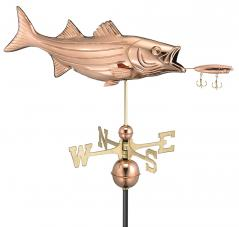 Bass & Lure Copper Weathervane