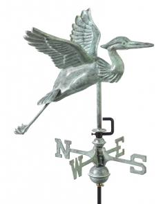 Blue Heron Garden Weathervane shown in Blue Verde