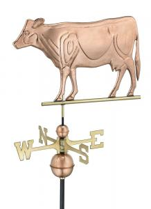 Dairy Cow Copper Weathervane