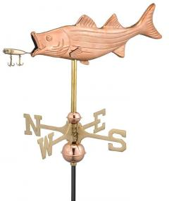 Garden Weathervane - Bass with Lure
