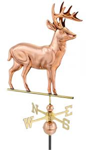 Standing Deer Polished Copper Weathervane