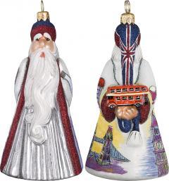 British Santa with Double Decker Bus