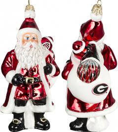 Georgia Santa Ornament