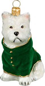 Westie w/ Green Velvet Coat