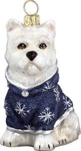 Westie w/ Snowflake Coat