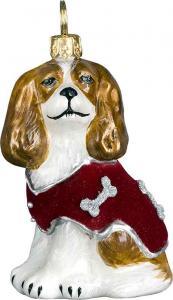 Cavalier King Charles Spaniel w/Red Velvet Coat