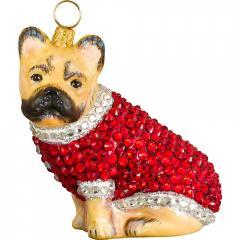 French Bulldog in Full Crystal Coat