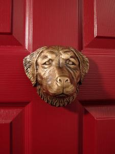 Golden Retriever Dog Door Knocker