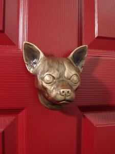 Chihuahua Dog Door Knocker