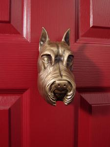 Schnauzer Dog Door Knocker