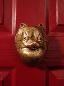 Pomeranian Dog Door Knocker