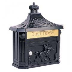 Victorian Mailbox - Color: Black