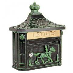 Victorian Mailbox - Color: Green