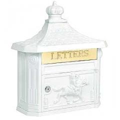 Victorian Mailbox - Color: White