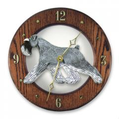Schnauzer, Natural Dog Wall Clock
