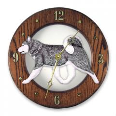 Siberian Husky Dog Wall Clock