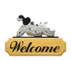 American Cocker Spaniel Dog Welcome Sign